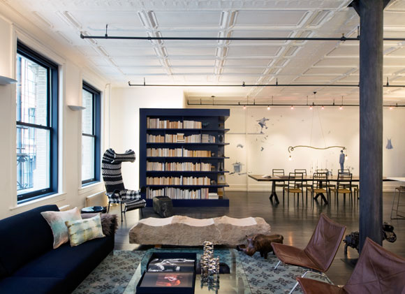The living area of a Mercer Street loft in New York. Photo courtesy of DHD Architecture and Design.
