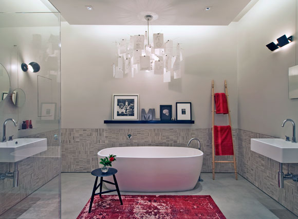 A bathroom in a loft on Mercer Street in New York. Photo courtesy of DHD Architecture and Design.