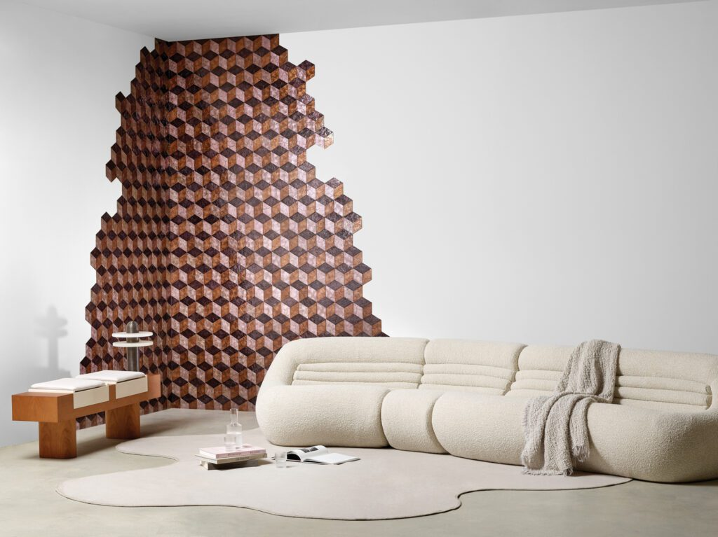 Arte's new wallcovering Cubic.