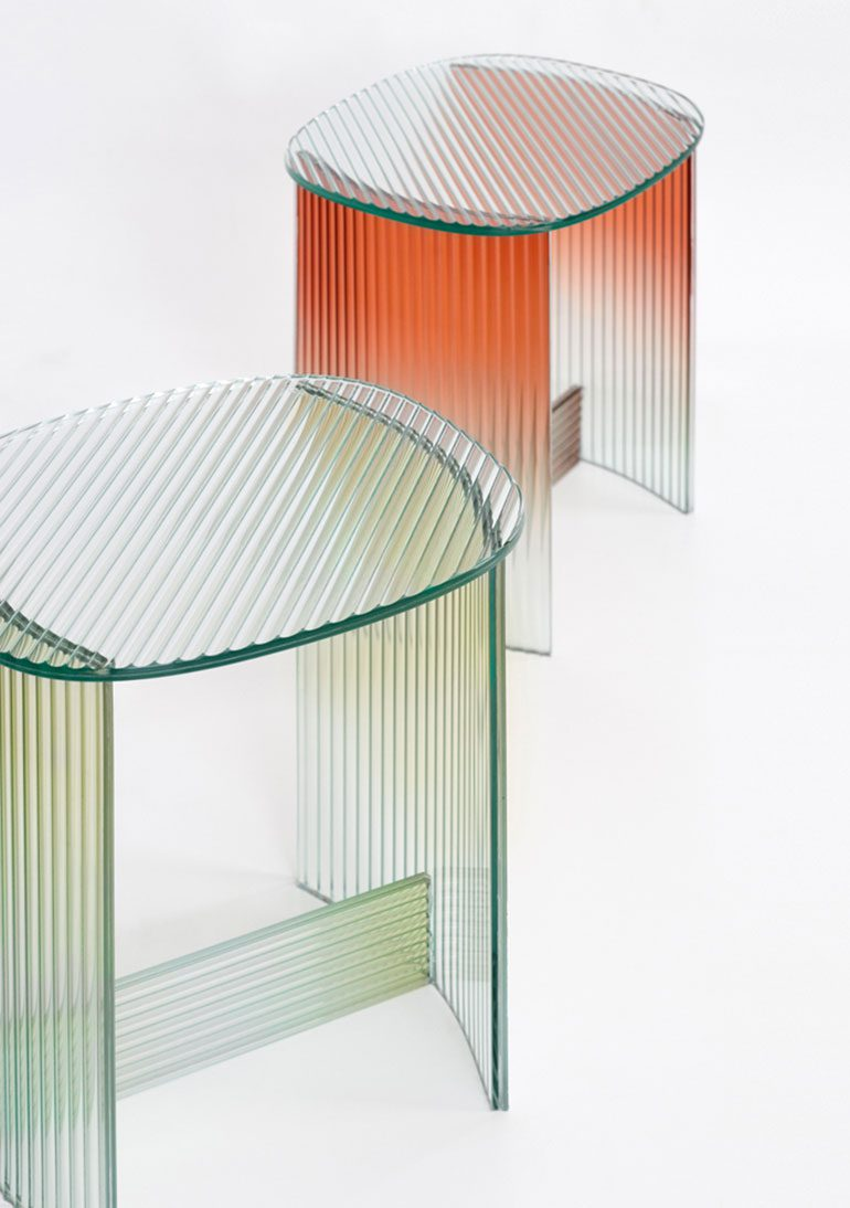 Fluted Glass Table