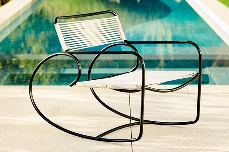 Walter Lamb Aluminum Rocking Chair