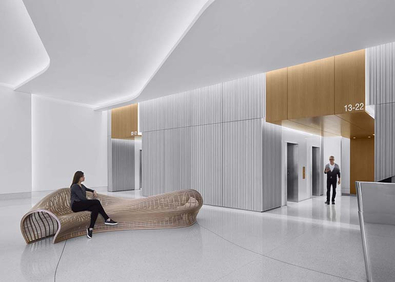 301 Howard Street Lobby Repositioning and Design