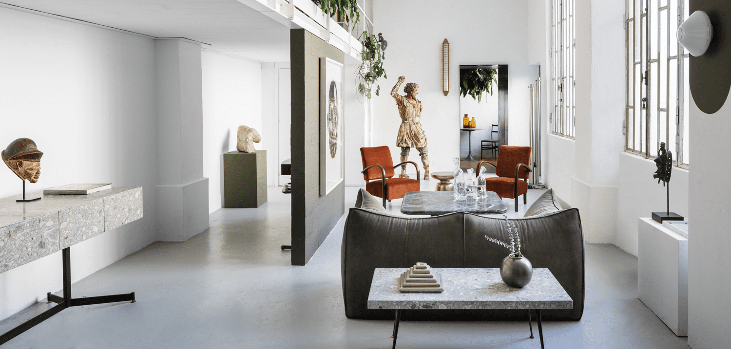 The interior of a Milan apartment by Tommaso Spinzi.
