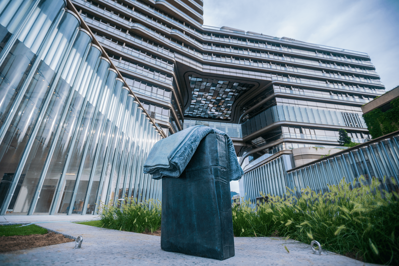 A sculpture by Tatiana Trouvé on level 6 of the K11 Art & Culture Centre.