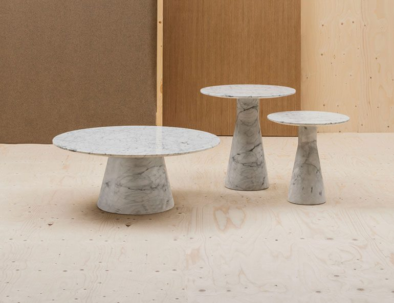 Reverse Occasional Marble & Cement Tables