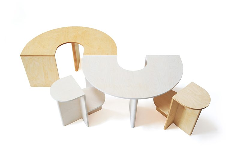 Lunar Table and Eclipse Chair