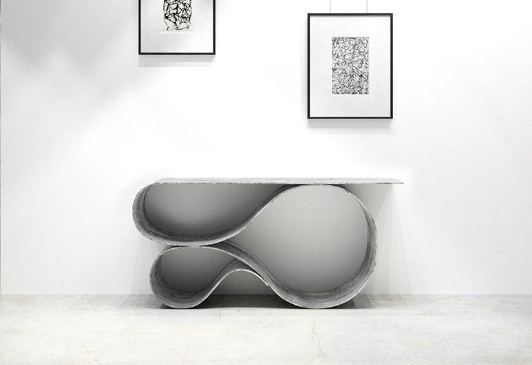 Whorl Console, Concrete Canvas Collection