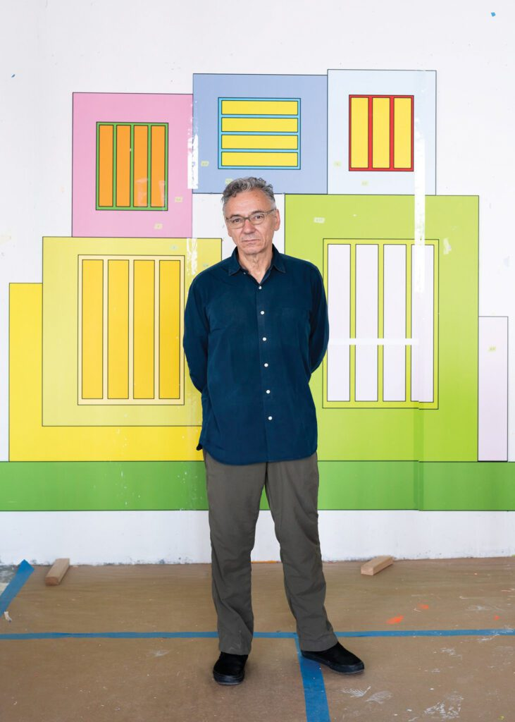 """Peter Halley's solo exhibition """"Cell Grids"""" is at Dallas Contemporary from September 25 to February 13, 2022."""