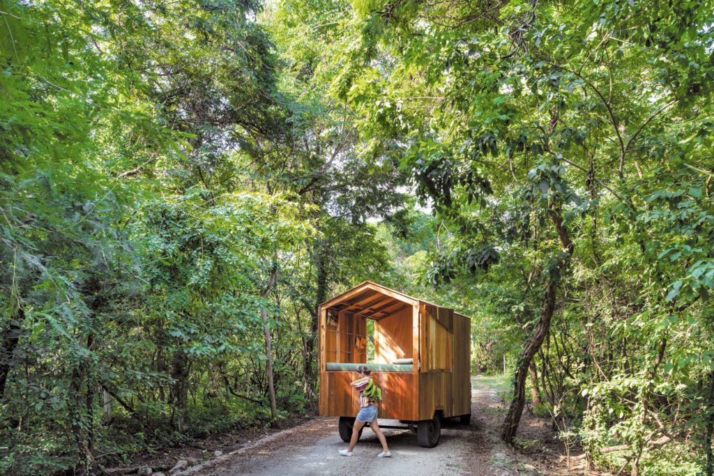 JAG Studio designs a cabin on wheels.