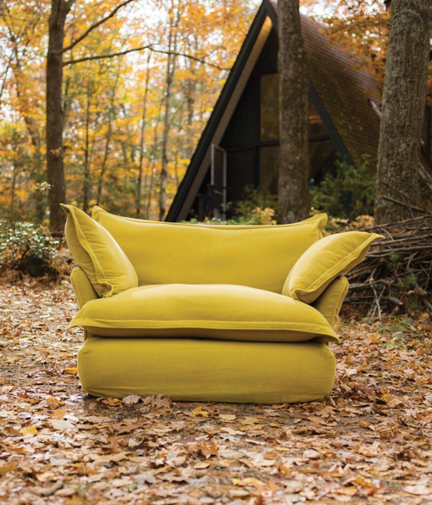 Marker&Son yellow plush chair.