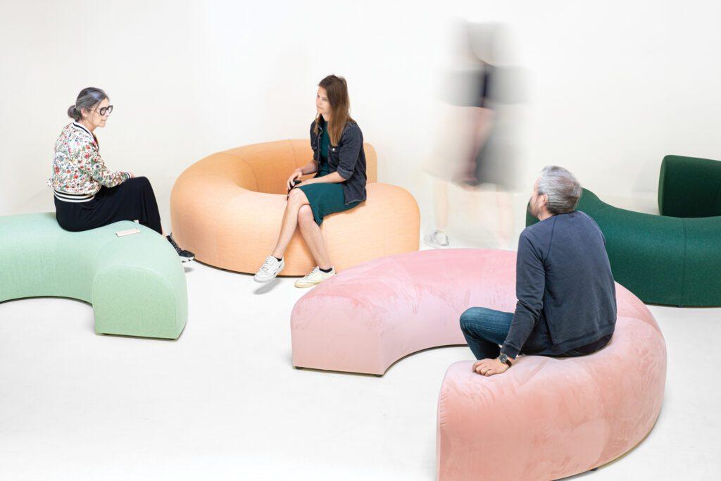 BuzziCee seating in acoustic foam by BuzziSpace.