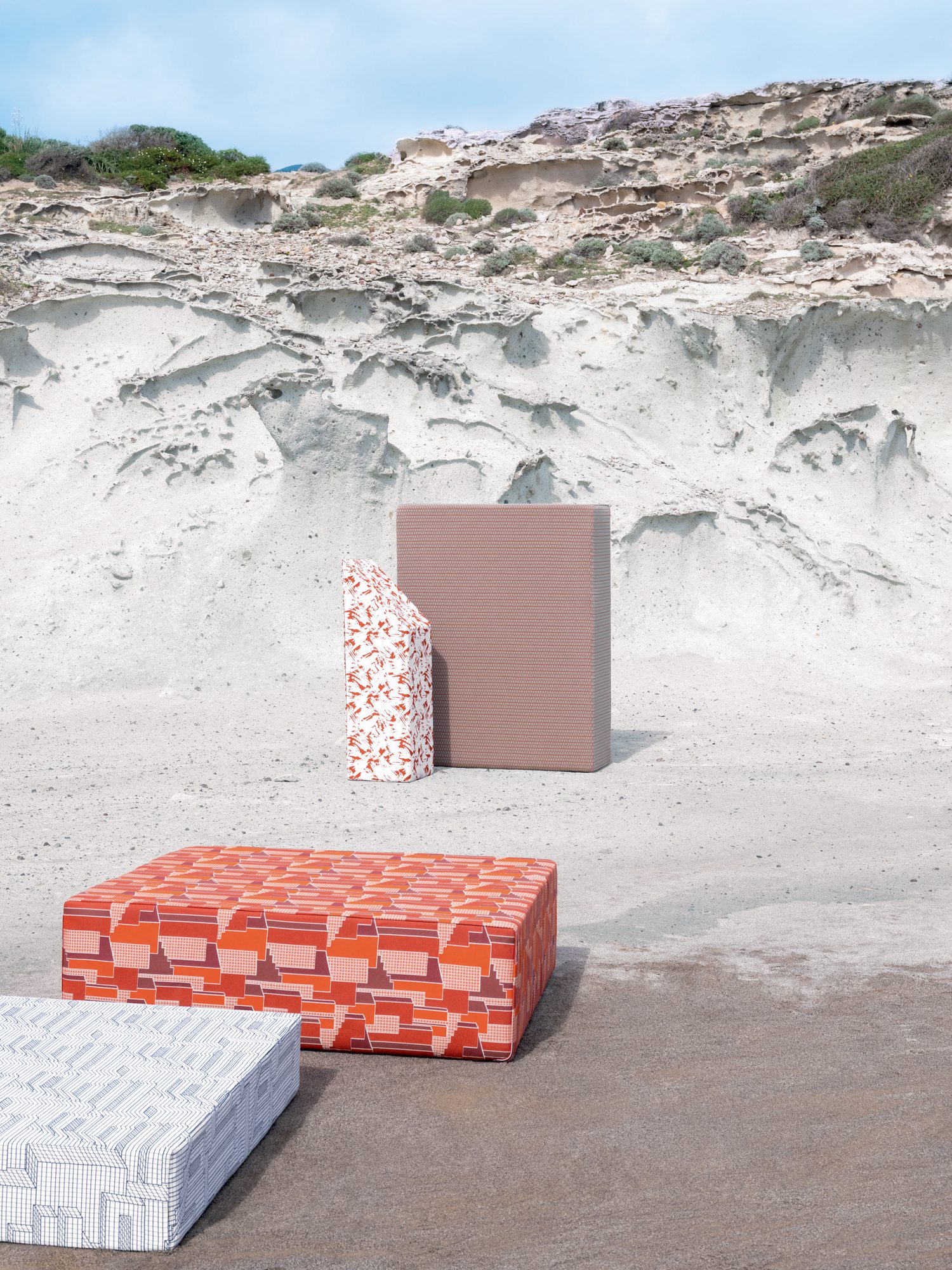 Studiopepe joins forces with French textile brand Élitis for Archiutopia, an outdoor fabric collection.