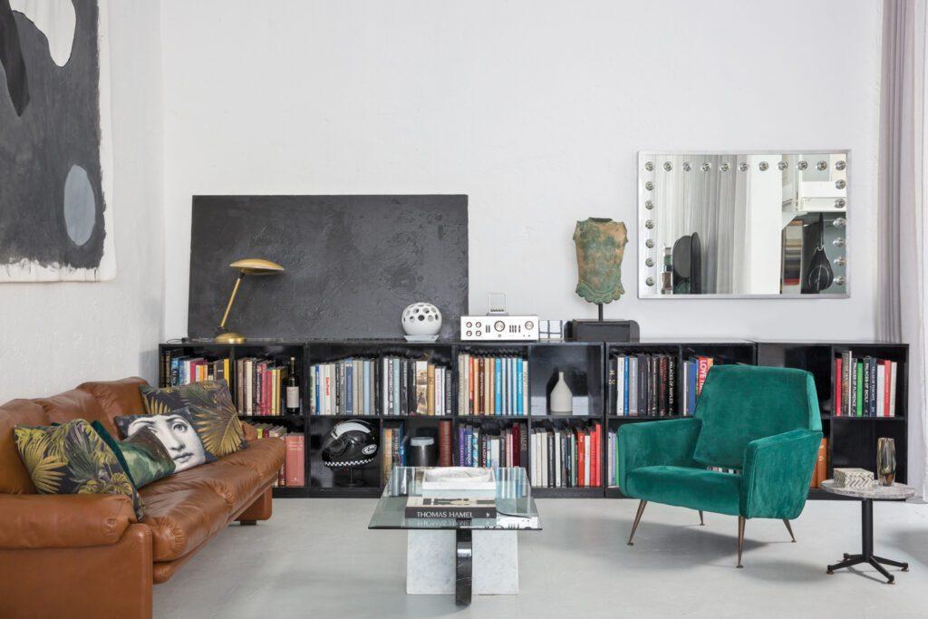 Tommaso Spinzi Milan Apartment Library