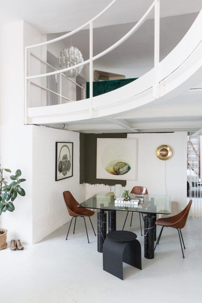 Tommaso Spinzi Milan Apartment Dining Area