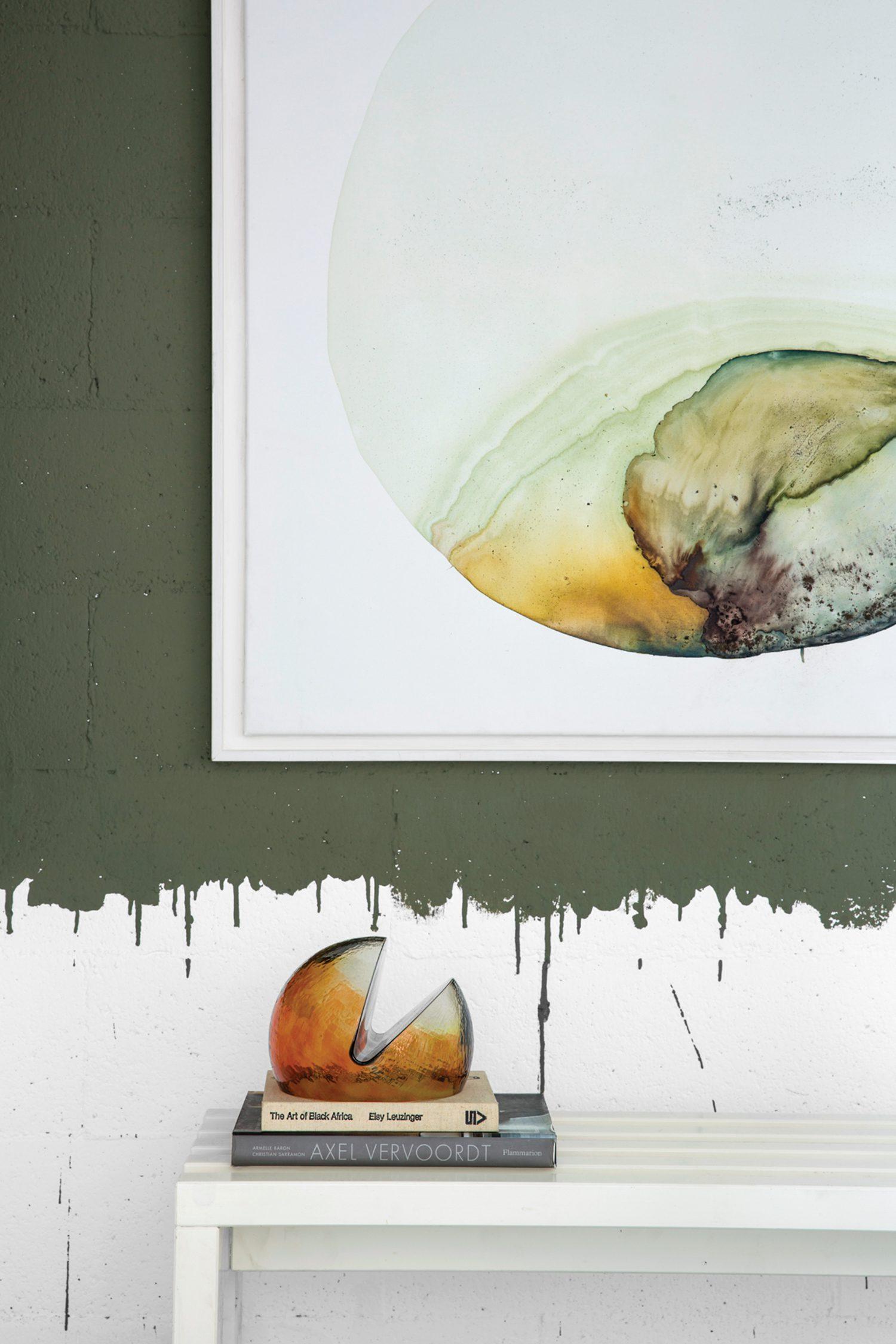 Tommaso Spinzi Milan Apartment art dining area