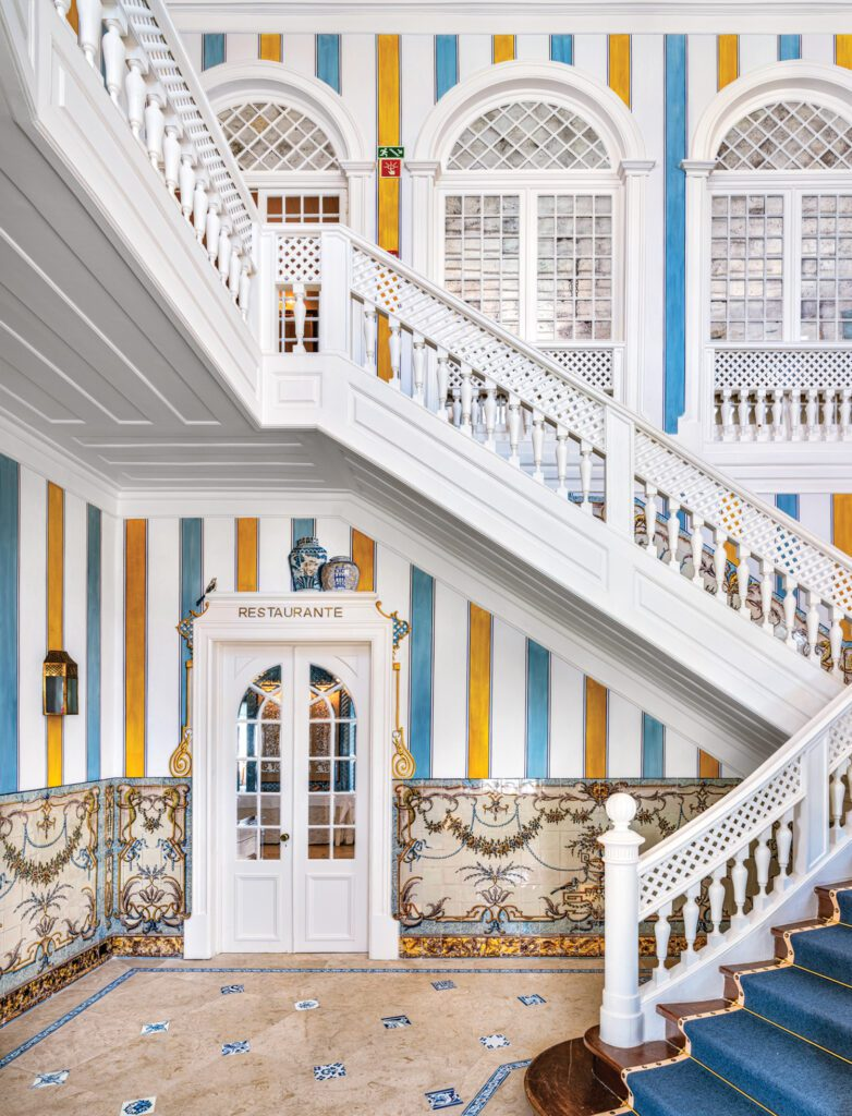 The stair dates to the early 20th century when the property was first built as a private home.