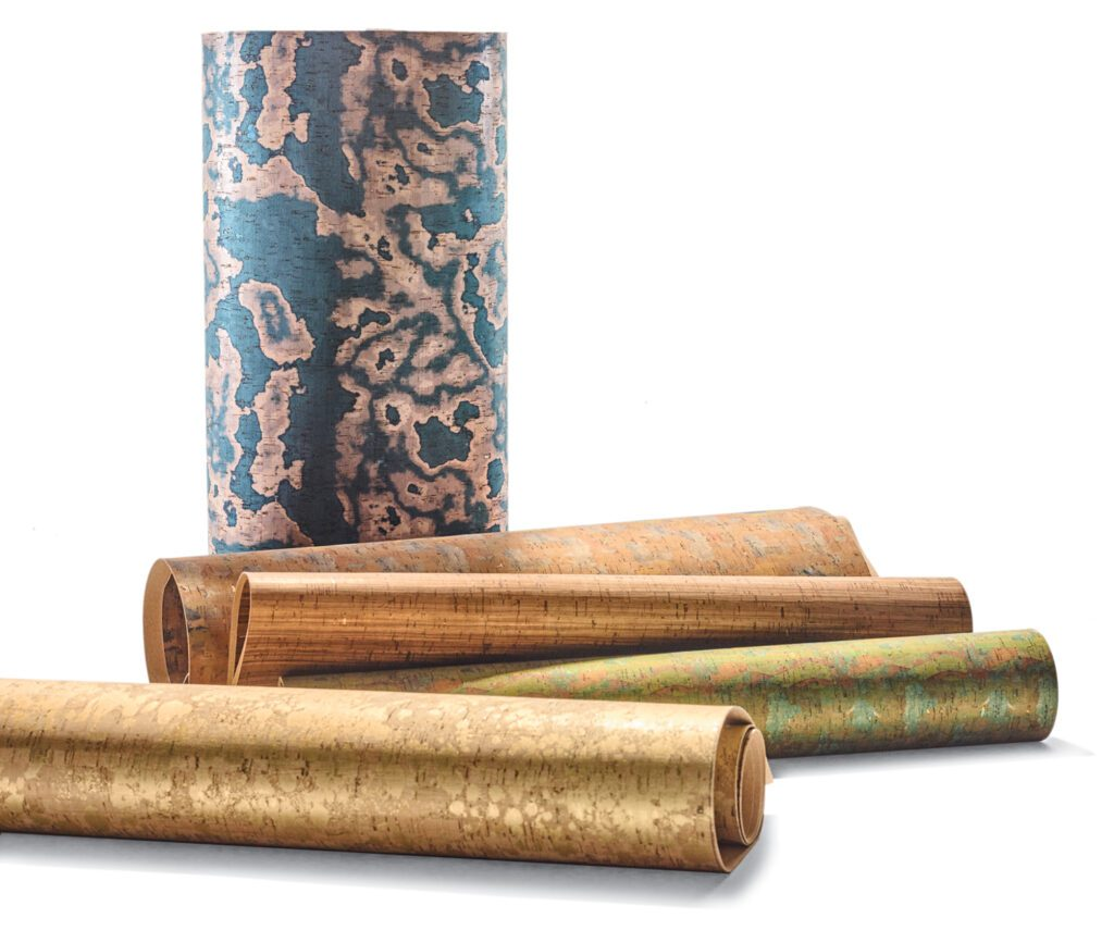 The Grand Suites collection wall covering in blend of polyurethane, polyester, cotton, and cork by 4Spaces.