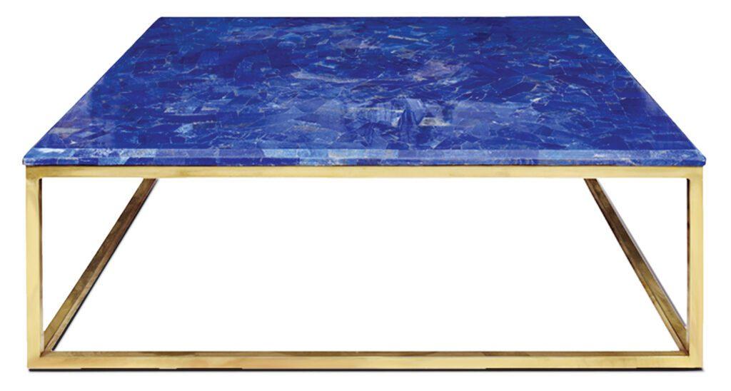 Lazward Center blue table by Farhana and Meherunnisa Asad of Studio Lél.