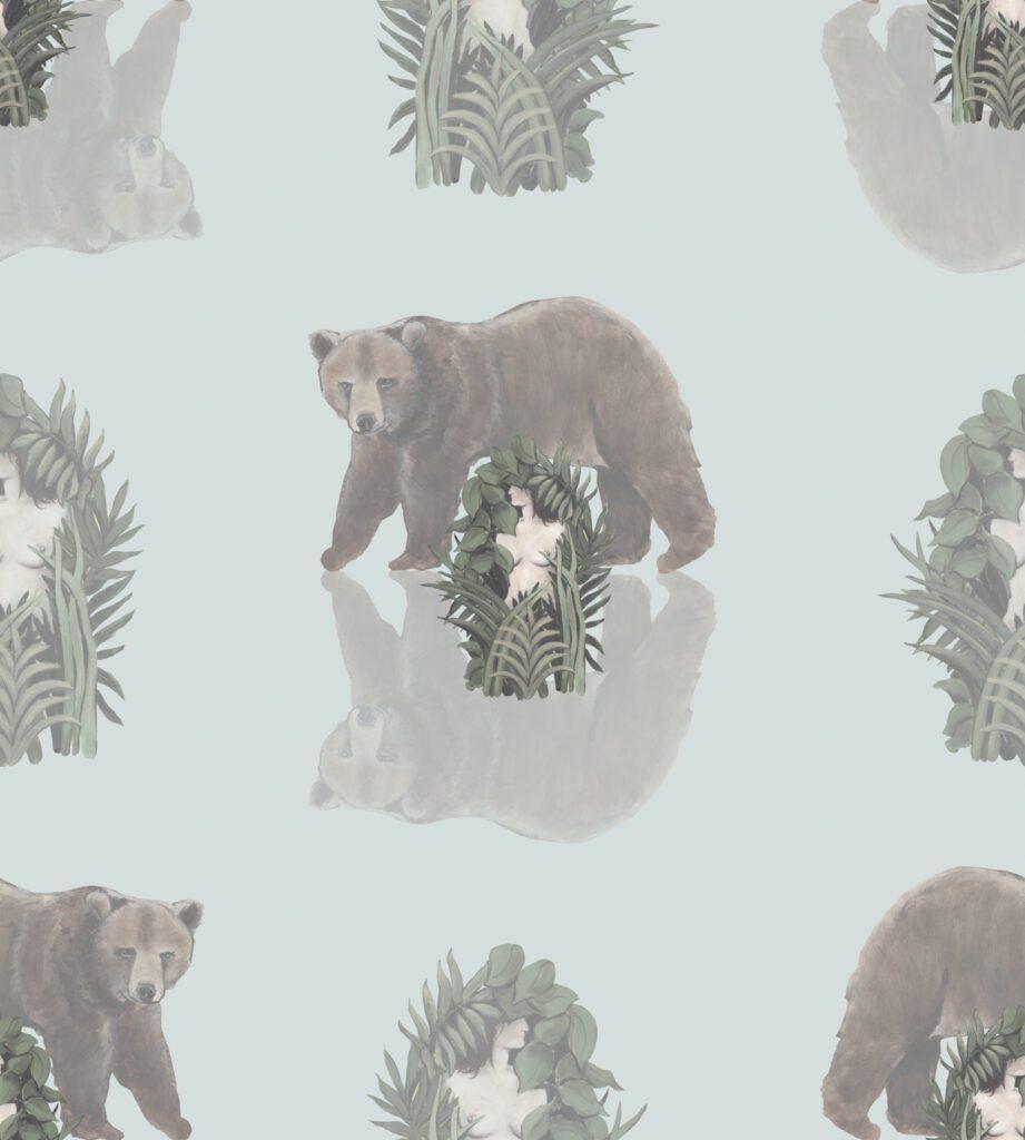 The Bear wallcovering by Colette van den Thillart for Work + Sea.