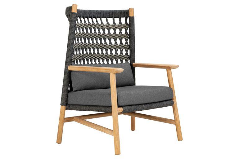 Anatra Teak High Back Lounge Chair