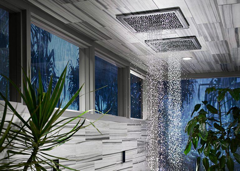Real Rain Shower Panel