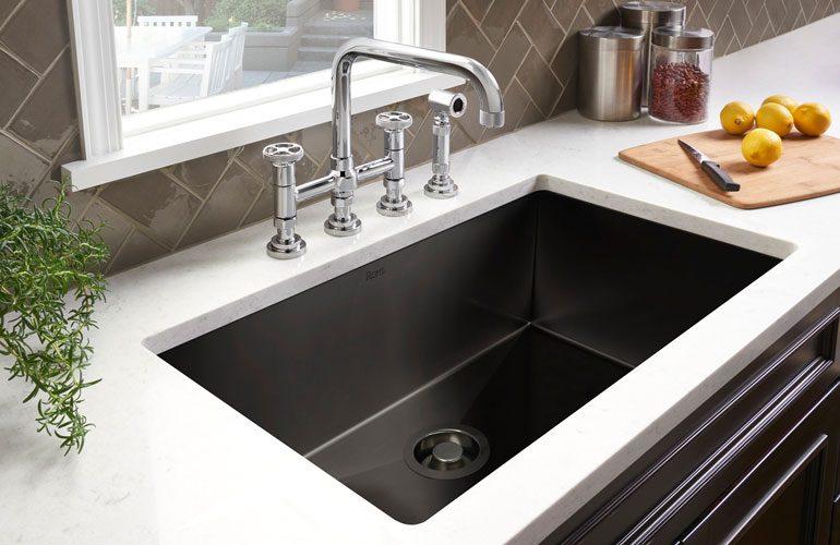 Luxury Italian Black Stainless Steel Kitchen Sink