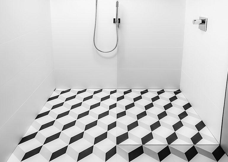 USG Durock Brand Infinity Drain Shower System
