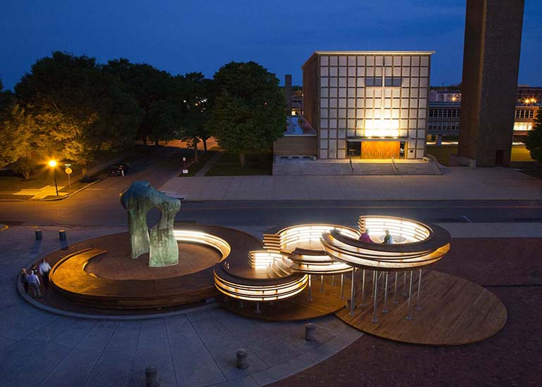 Conversation Plinth: Indiana Hardwood CLT project