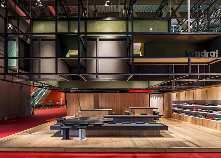 The Exposed Cut, stand design for Kvadrat