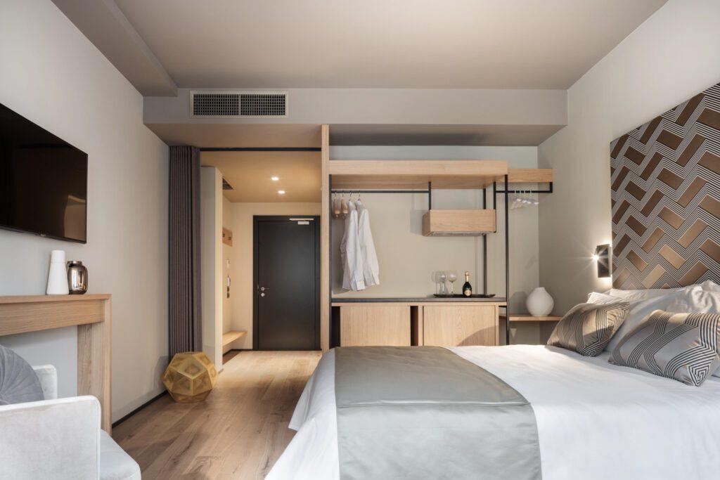Inside the deluxe suite at the Speronari Suites in Milan.