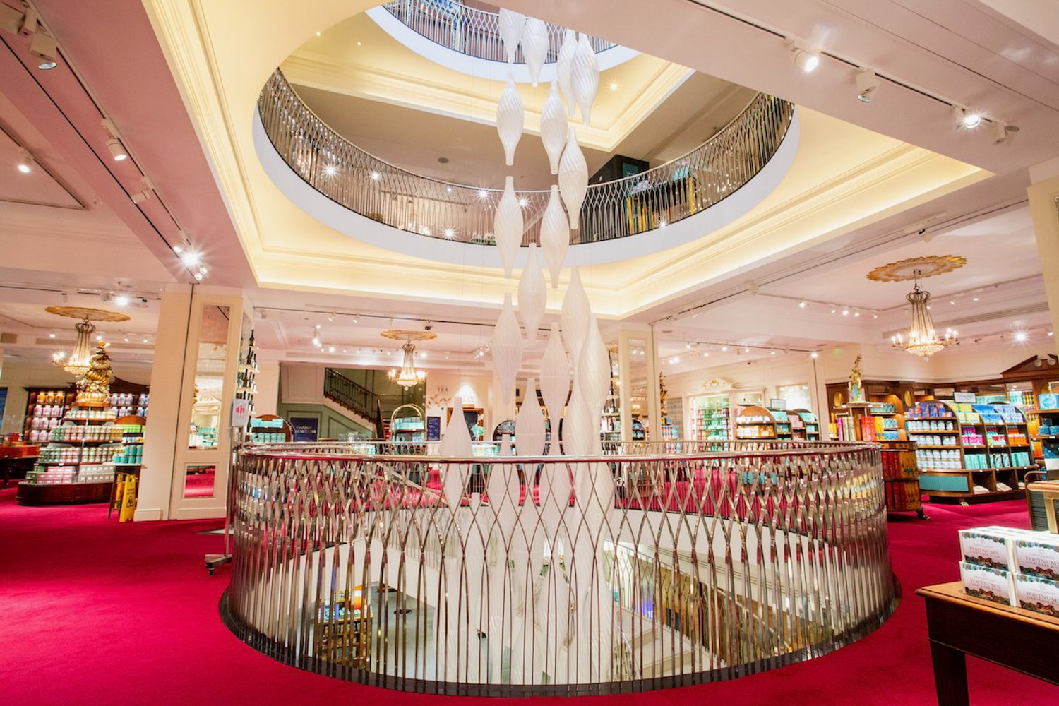 """""""Mellifera: The Dancing Beehives,"""" an installation by Arthur Mamou-Mani at the Fortnum & Masons department store in London during the London Design Festival 2021. Photography by Carmen Valin/courtesy of the London Design Festival."""
