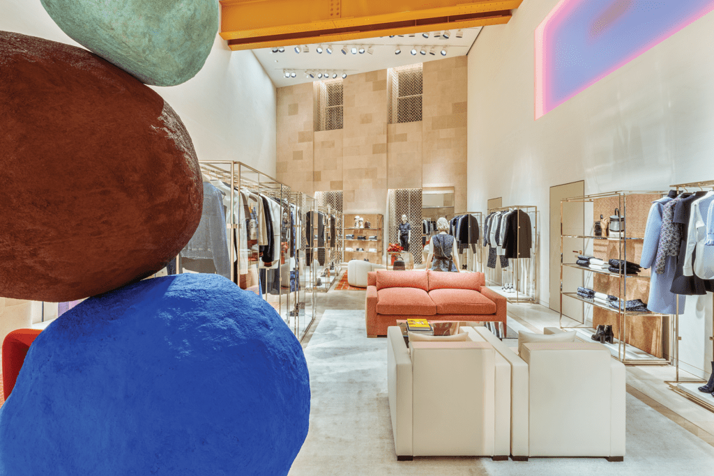 Inside Peter Marino's Louis Vuitton London.