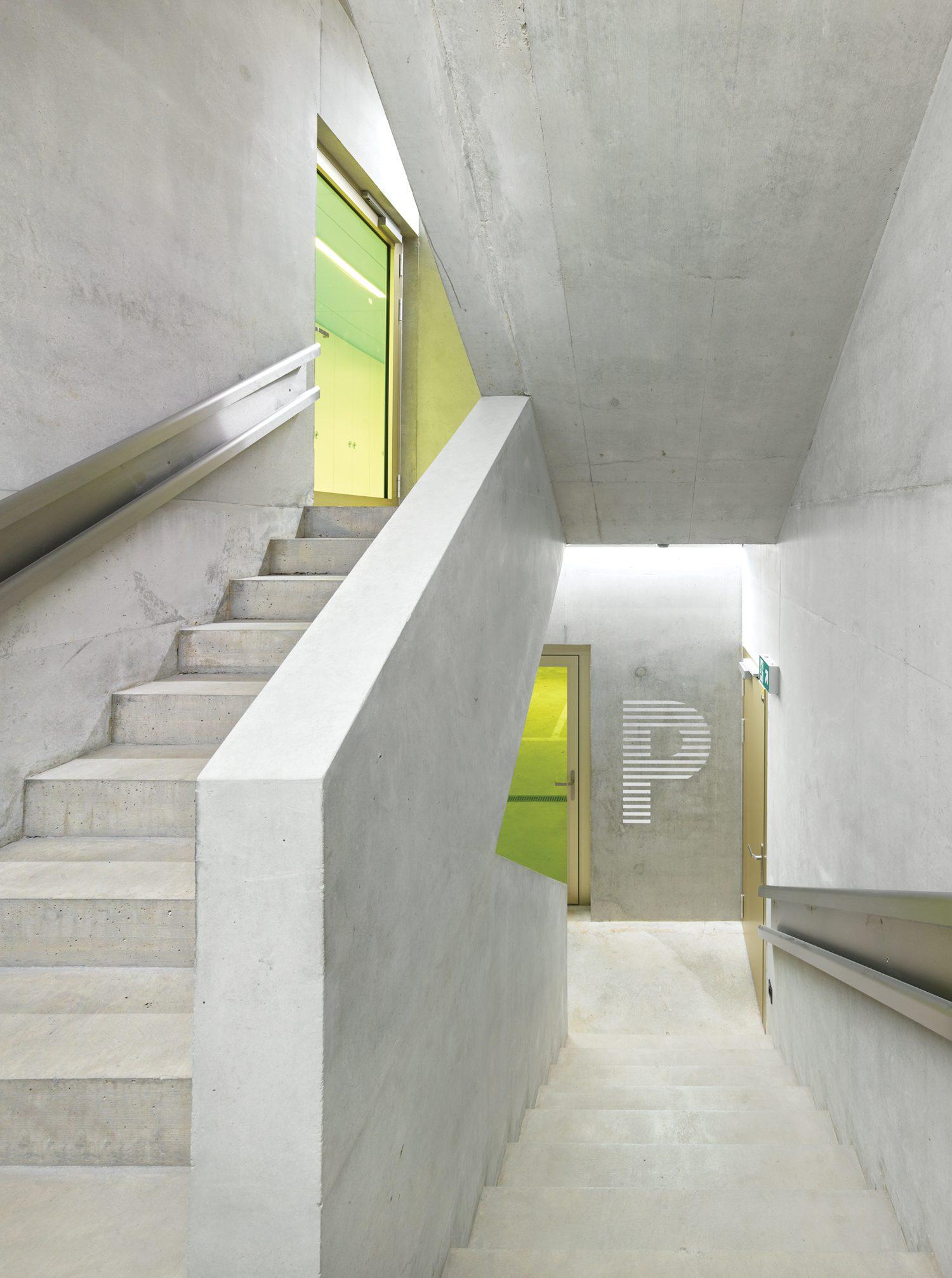 White open stairwell.