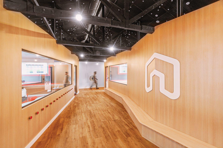 A wood-centric hallway.