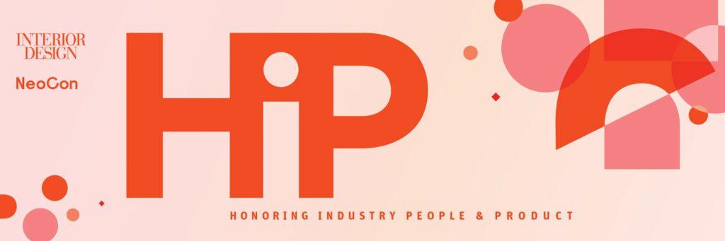 HiP Awards banner with pink and orange design.