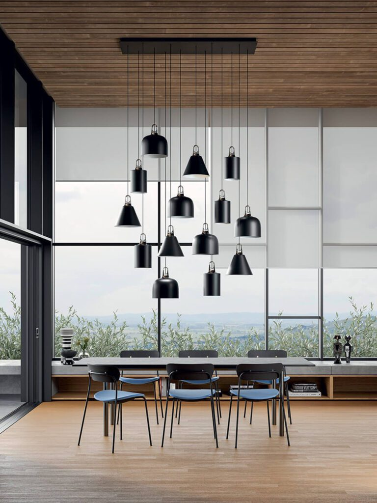 """""""We developed four shapes but then you can customize,"""" says designer Patrick Norguet on Jim, his suspension lamp for Lodes."""