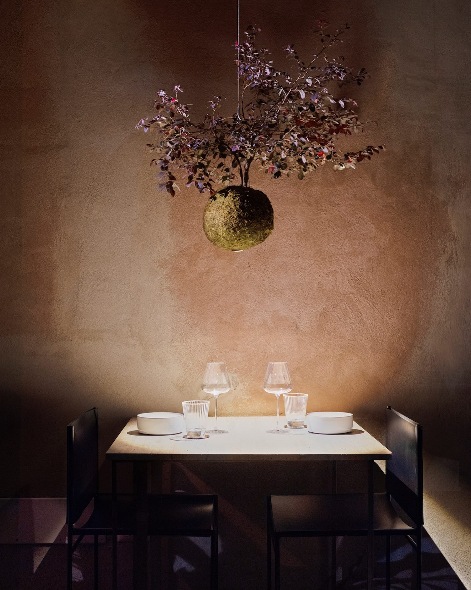 With the living pendant light, the design studio aims to draw nature into an urban landscape.