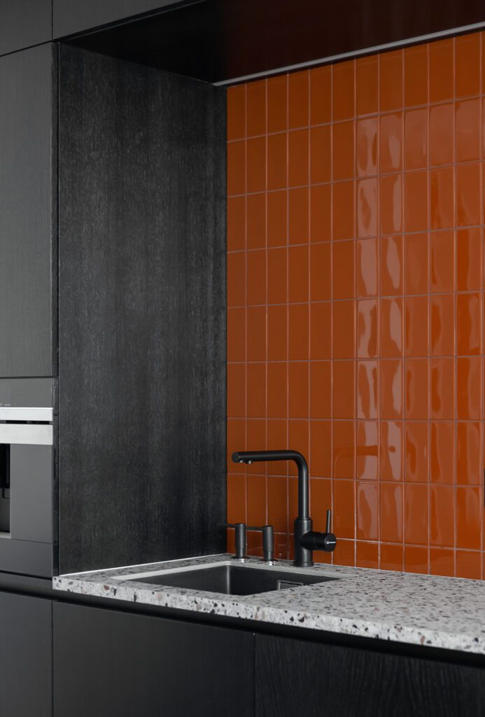 Dominant throughout the project are tiles used in 10 different sizes and colors.