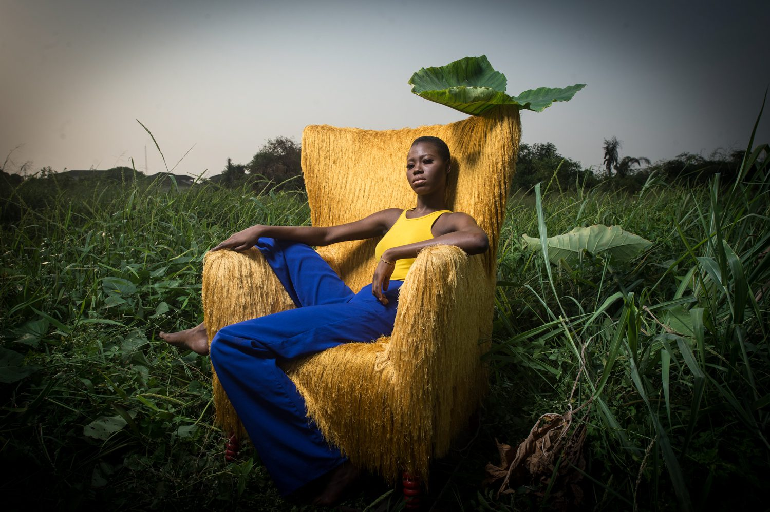 Mmanwu is an armchair made by master artisans out of Aso Oke fabric, wood and foam. It is a unique piece that can be ordered from contemporary African craft specialists Aga Concept in Lagos.