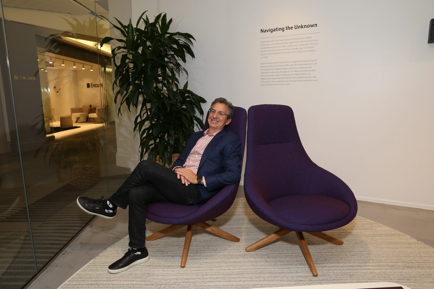 Bruce Golden, CEO, Stylex in the Cove chair.
