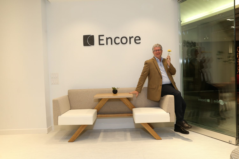 Chris Burgess, executive VP at Arcadia with TooAPicnic seating.