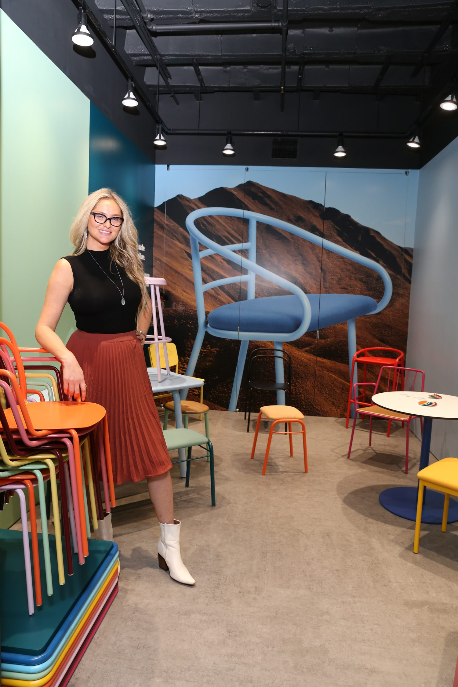 Jennifer Van Vlissingen, design sales at Deborah Zeitler Associates, at the new Division Twelve showroom.