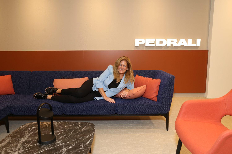 Robin Martin, principal at Martin Design Lines in the Pedrali showroom.