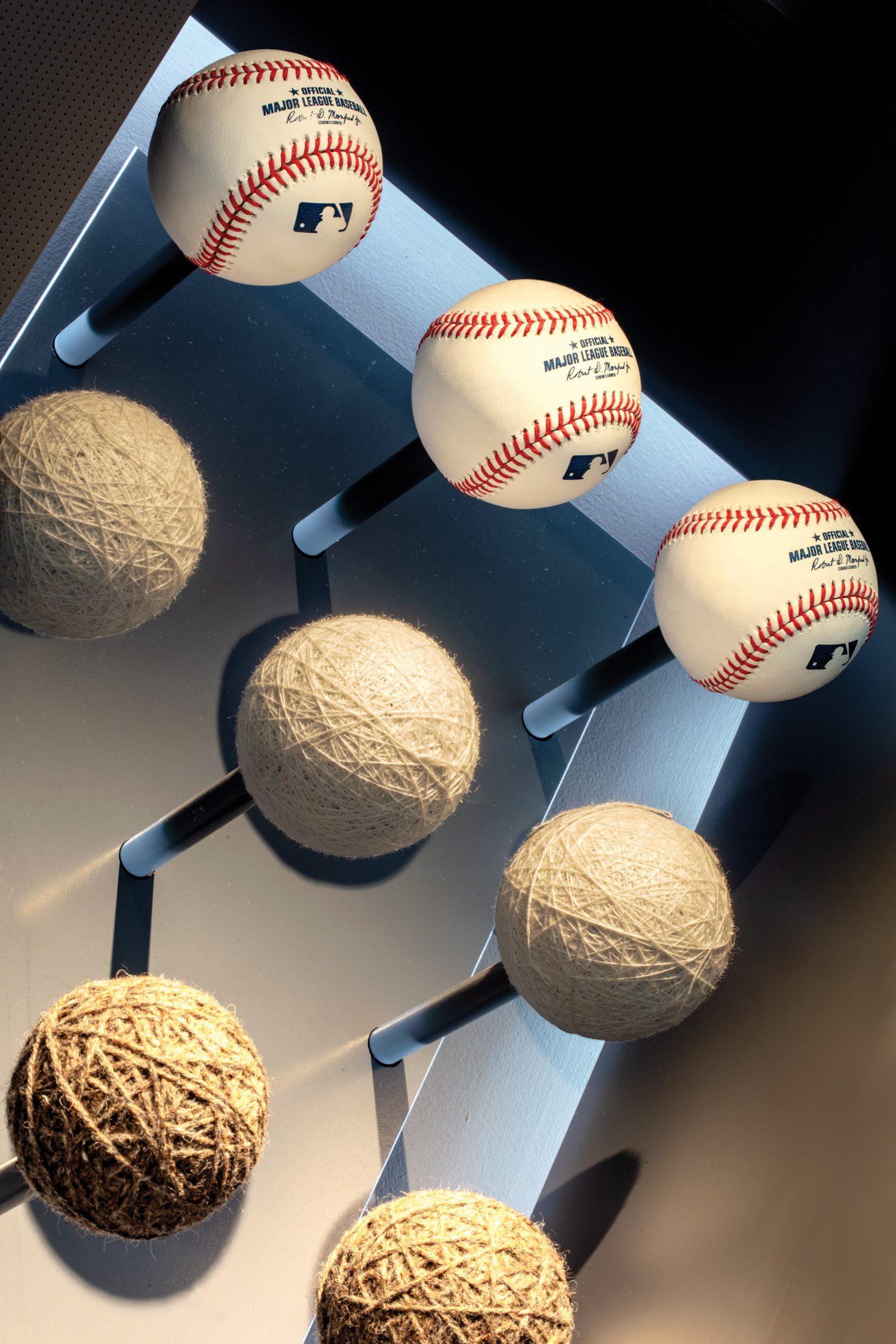 Deconstructed baseballs.