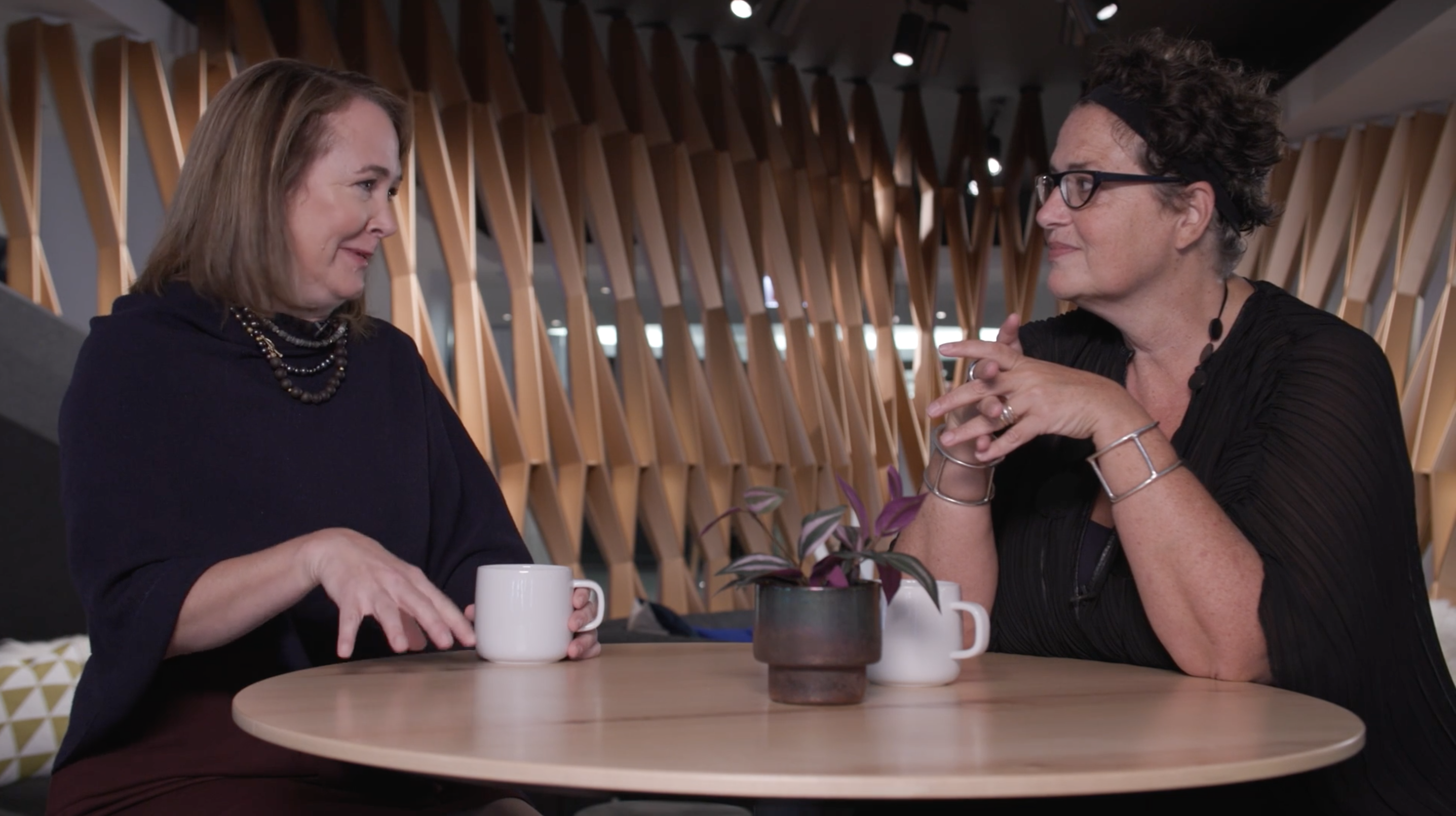 Sara Armbruster of Steelcase sits down to chat with Cindy Allen, Editor in Chief of Interior Design